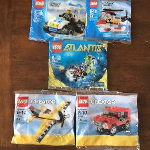 LEGO toys City, Creator, Atlantis NWT